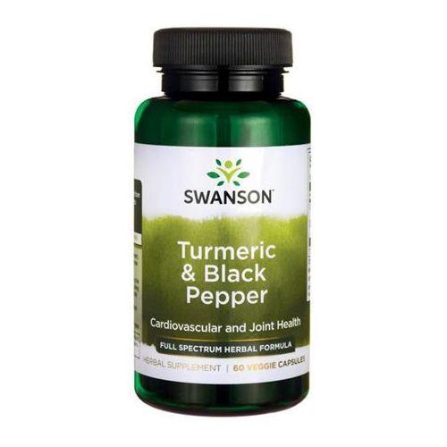 Kurkuma i czarny pieprz 60 kapsułek turmeric & black pepper Swanson (5902729732604)