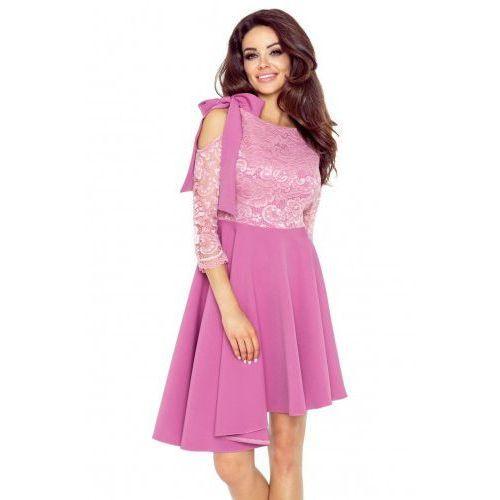 a61dcb1baa 78-06 NEVA asymetryczna sukienka z koronkową górą (BRUDNY RÓŻ)