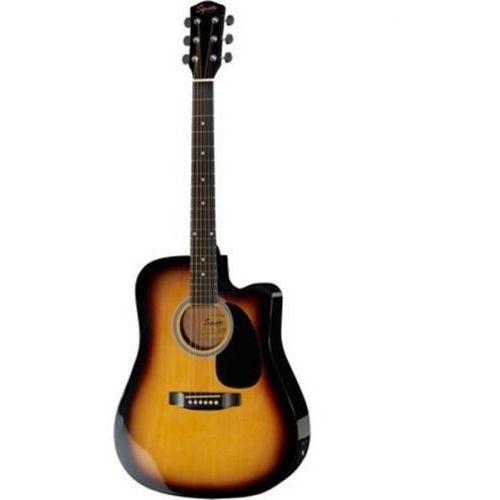 squier sa-105ce dreadnought sunburst gitara elektroakustyczna marki Fender