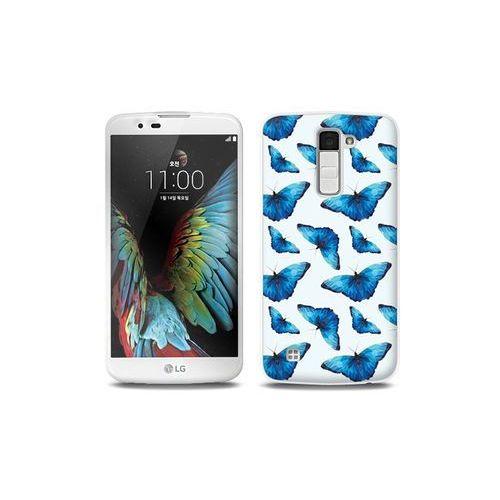 LG K10 - etui na telefon Full Body Slim Fantastic - niebieskie motyle, ETLG287FBSFFC049000