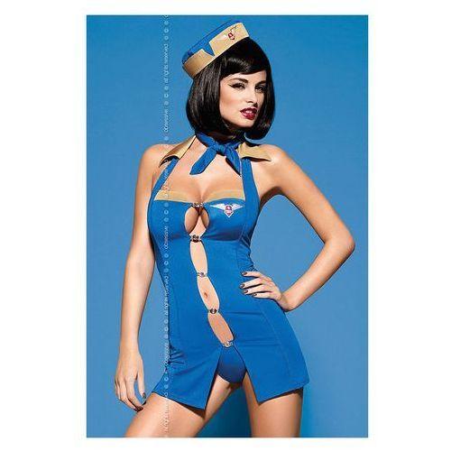 Kostium Obsessive Air hostess w kolorze niebieskim - produkt z kategorii- garsonki i kostiumy