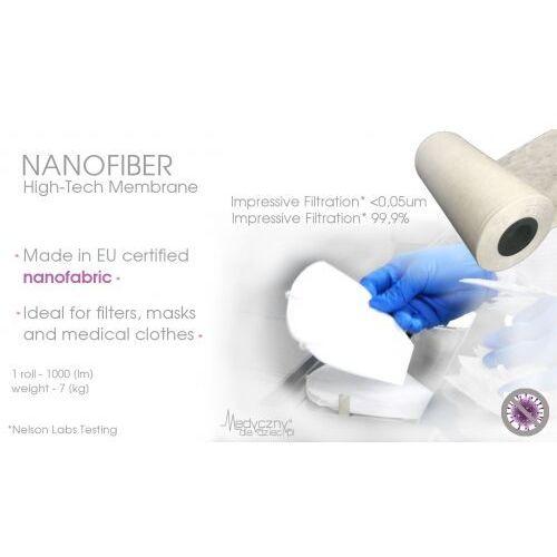 Unikalna specjalistyczna nanowłóknina medyczna do produkcji filtrów, maseczek, medycznej odzieży ochronnej 1000mb tkanina medyczna z filtracją na bakteriofagi 0,03um nanotechnologia marki Szwajcaria