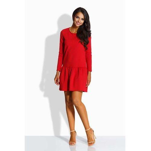 db4b748ff9 Czerwona Sukienka z Kokardą na Plecach