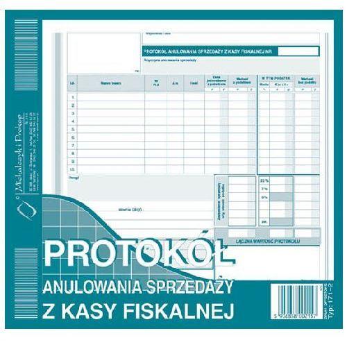 Protokół anulowania sprzedaży z kasy fiskalnej 2/3 A4, produkt marki Michalczyk & Prokop