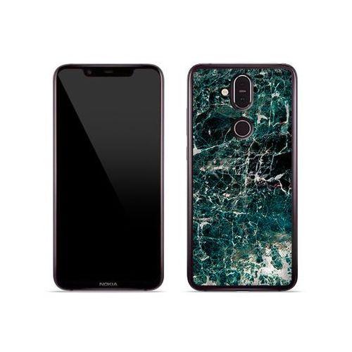 Nokia 8.1 - etui na telefon fantastic case - zielony marmur marki Etuo fantastic case
