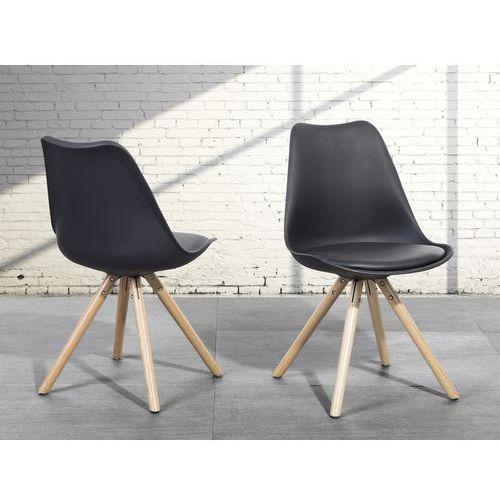 Krzesło do jadalni czarne - fotel - dakota wyprodukowany przez Beliani