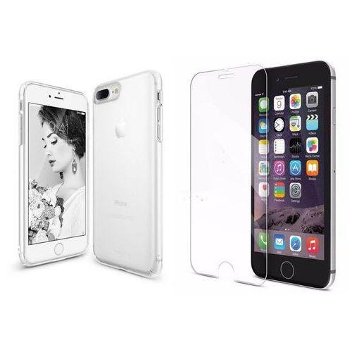 Zestaw | rearth ringke slim frost white | obudowa + szkło ochronne perfect glass dla modelu apple iphone 7 plus marki Rearth / perfect glass