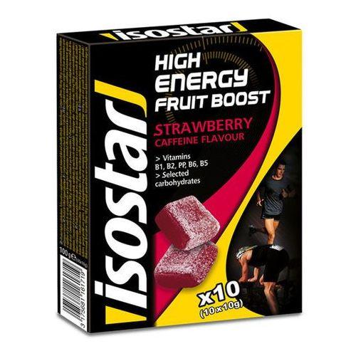 Isostar fruit boost żywność dla sportowców strawberry 100 g żółty/czarny 2018 cukierki i gumy