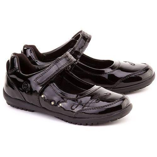 GEOX Junior Bon - Czarne Lakierowane Baleriny Dziecięce - J34E3C 00002 C9999 ze sklepu MIVO Shoes Shop On-line