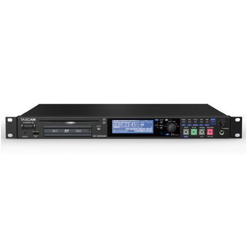 Tascam ss-cdr250n rejestrator dźwięku na kartach compactflash i cd-rw, do sal konferencyjnych