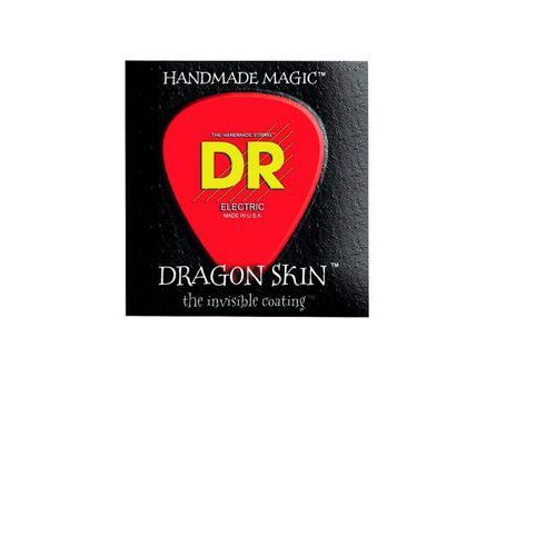 dragon skin - struny do gitary basowej, 6-string, coated, medium,.030-.125 marki Dr