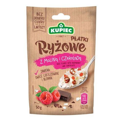 Płatki ryżowe z maliną i czekoladą (folia) 50g (bez dodatku cukru i laktozy)