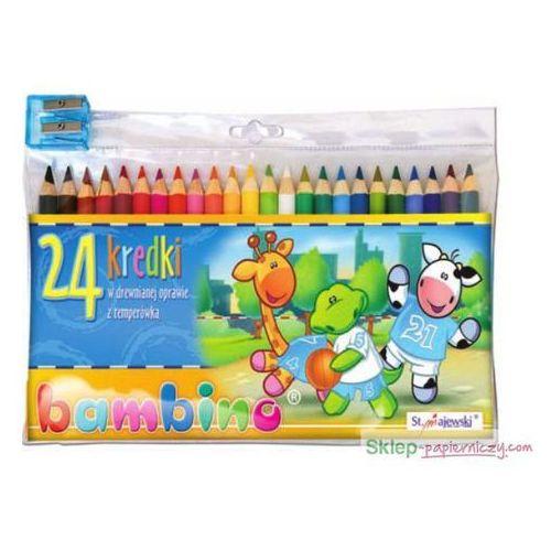 Kredki 24 kolory + temperówka bambino marki Majewski