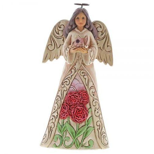 Anioł styczeń patron urodzonych w styczniu January Angel 6001562 Jim Shore - pamiątka narodzin, chrztu figurka dewocjonalia