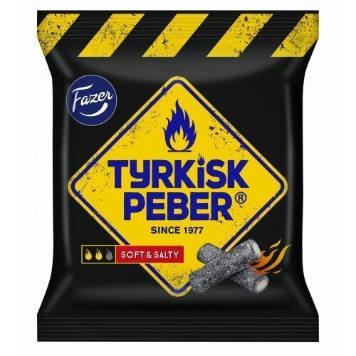 Fazer tyrkisk peber soft & salty cukierki z lukrecją miękką pokrytą cukrem 120g
