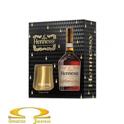 Koniak hennessy very special gift box 0,7l + 2 szklanki marki Jas hennessy & co.