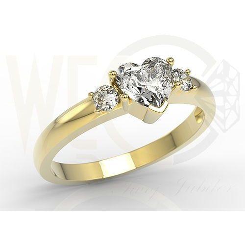 8b859cf22cdc32 Pierścionek z żółtego złota z białym ...