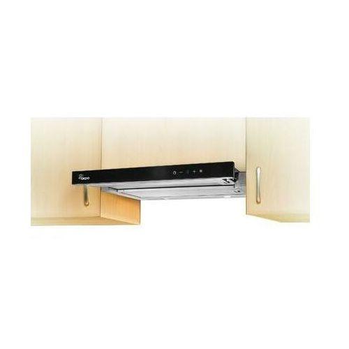 Okap Akpo WK-7 Light Glass Touch 60 Inox + czarne szkło