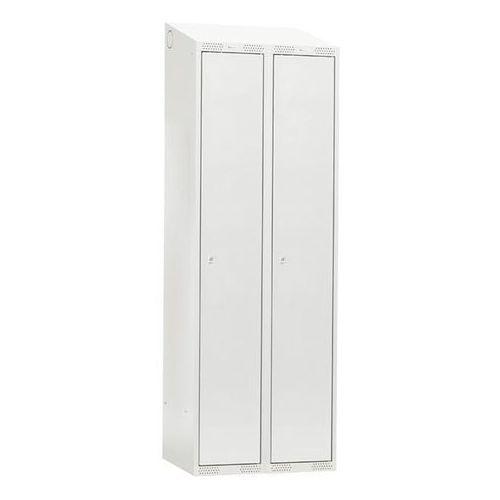 Szafa do przebieralni - 2 sekcje 1900x550x800mm Kolor drzwi: Szary z kategorii szafy ubraniowe