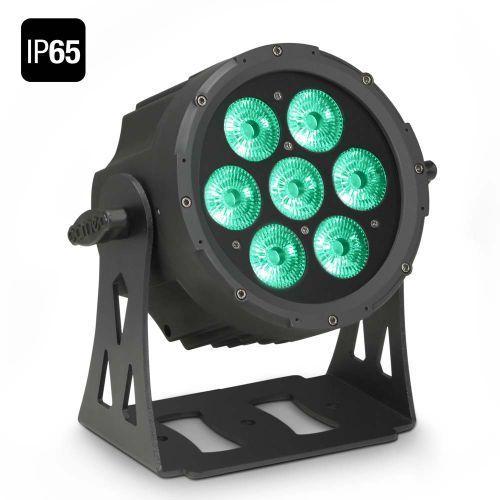flat pro 7 ip65 - 7 x 10 w flat led outdoor rgbwa par - reflektor led w czarnej obudowie ip65 marki Cameo