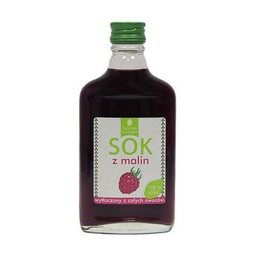 Sok 100% z malin wytłoczony z całych owoców 200ml Zielona tłocznia