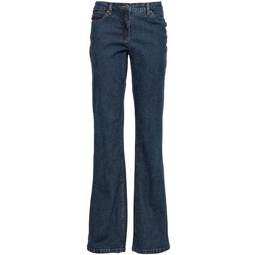 Dżinsy BOOTCUT bonprix ciemnoniebieski, rozmiar od 36 do 54, niebieski
