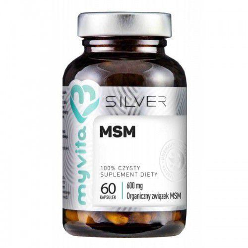 MSM organiczny związek siarki 600ml 60 kapsułek - Myvita Silver, 5903021590336