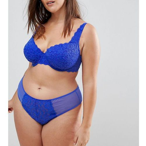 jennifer lace thong - blue marki Asos curve