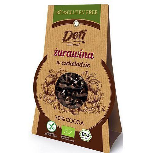 Żurawina w czekoladzie deserowej bio 60g. - marki Doti
