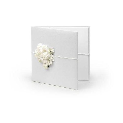 Etui na płyty cd lub dvd białe z kremowymi kwiatkami - 1 szt. marki Ap
