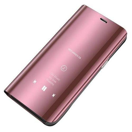 Clear View Case futerał etui z klapką Samsung Galaxy A70 różowy - Różowy (7426825367945)