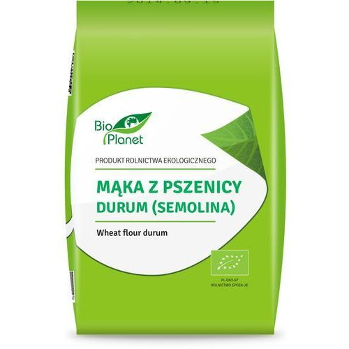 Bio planet - seria mąki i skrobie Mąka z pszenicy durum (semolina) 1 kg - bio planet (5902175869824)
