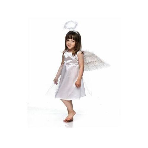 4e51c2de33 Kostium aniołek ze skrzydełkami i aureolką - m - 122 128 cm marki Party  deco 59