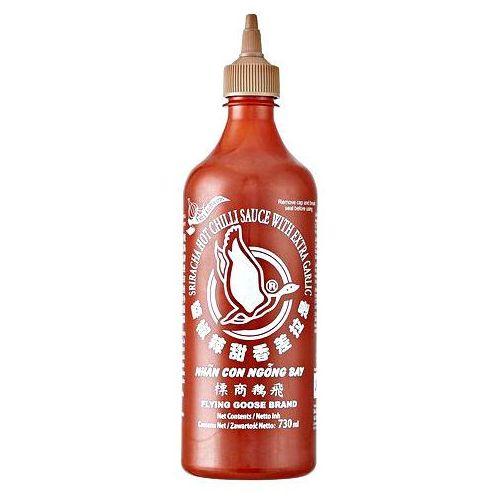 Flying goose Sos chili sriracha z czosnkiem, ostry (51% chili) 730ml -
