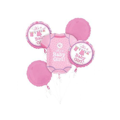 Bukiet balonów foliowych Baby Girl - 1 kpl.