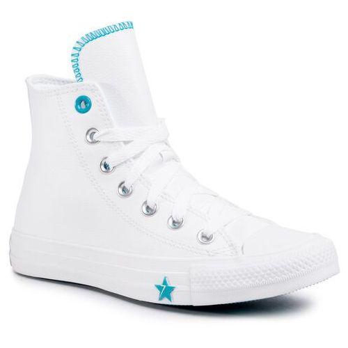 Trampki - ctas hi 567127c white/rapid teal/white marki Converse