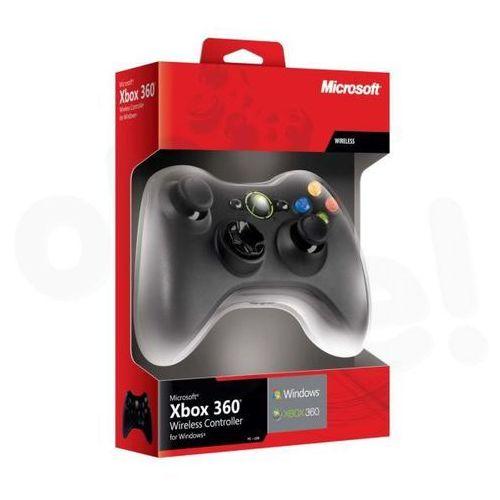 Microsoft Xbox 360 Wireless czarny (adapter do PC w zestawie) nowa wersja ze sklepu OleOle!