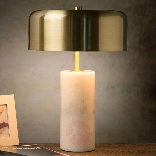 mirasol 34540/03/31 lampa stołowa lampka 3x7w g9 biały/satynowy mosiądz marki Lucide