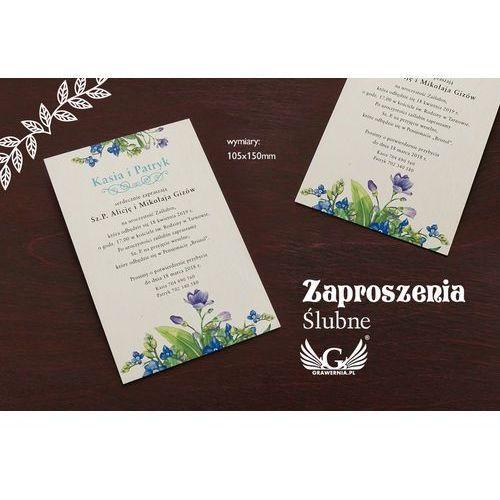 Zaproszenia ślubne z drewna - cyfrowy druk uv - zap046 marki Grawernia.pl - grawerowanie i wycinanie laserem