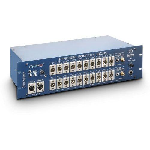 pro press patch box 20 stereo konferencyjny rozdzielacz sygnału, 10-kanałowy stereo/20-kanałowy mono marki Palmer