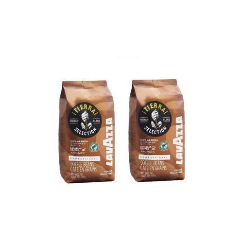 Zestaw 2x LAVAZZA Tierra Włoska Kawa Naturalna Ziarnista Import 1kg