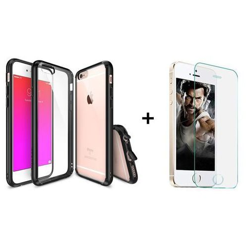 Zestaw | rearth ringke fusion black + szkło ochronne | etui dla apple iphone 6 plus / 6s plus marki Rearth / perfect glass