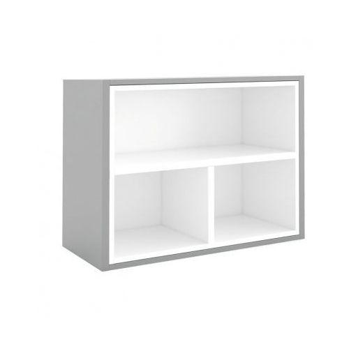Biblioteka MODUL 600 x 800 mm + wewnętrzny moduł, wenge/biały