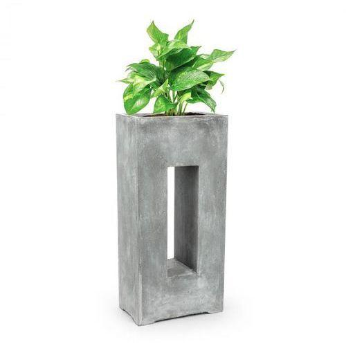 Blumfeldt airflor pojemnik na rośliny donica 45x100x27 cm włókno szklane do wewnątrz/na zewnątrz jasnoszary