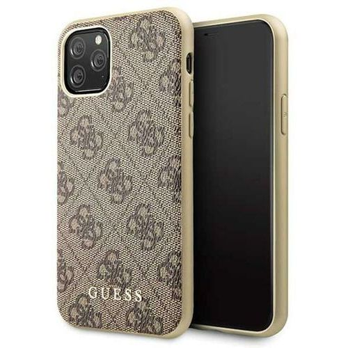 guhcn58g4gb iphone 11 pro brązowy/brown hard case 4g collection - brązowy marki Guess
