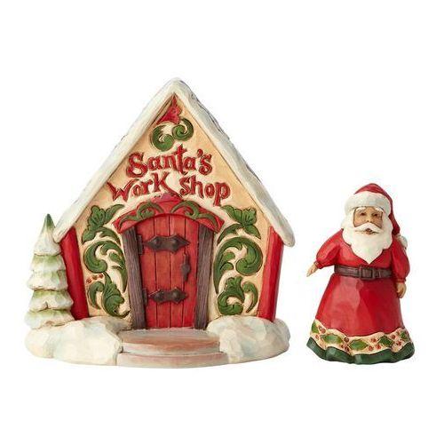 Mikołaj i sklep z zabawkami Santa and Toy Shop Gift Set 4060314 Jim Shore figurka ozdoba świąteczna