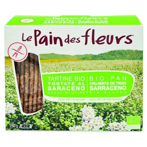 Pieczywo chrupkie z mąki gryczanej bezglutenowe bio 150 g pain des fleurs marki Ecor