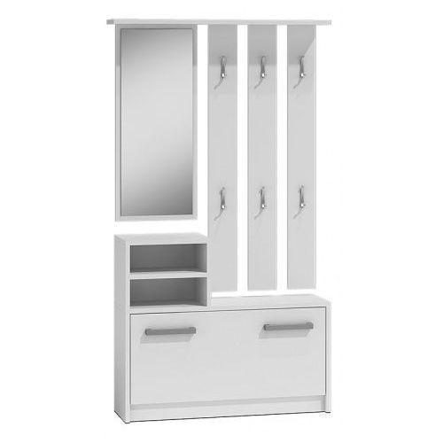 Elior.pl Garderoba z lustrem salma - biała (5902838461501)