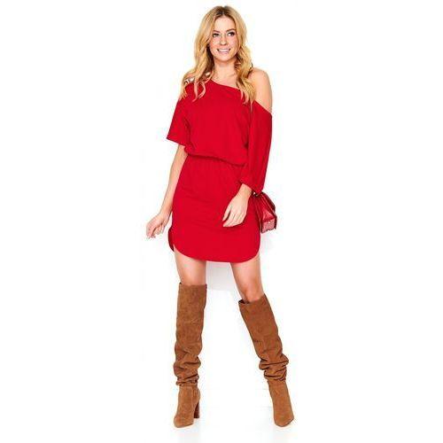 Makadamia damska sukienka 38 czerwona