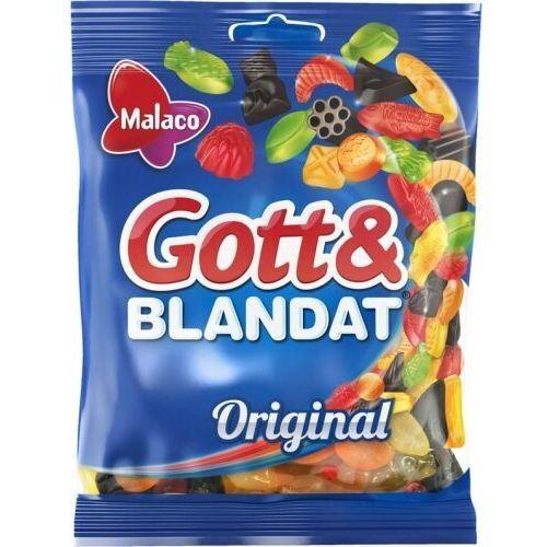 Malaco - Gott & Blandat - Original - żelki o smaku owoców i lukrecji - 160g (7310350504305)